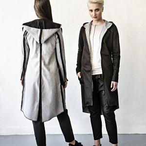 džínový kabátek s kapucí  