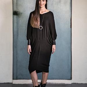 úpletové šaty, které lze použít i jako top |