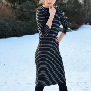 šaty | bavlněný úpletový materiál