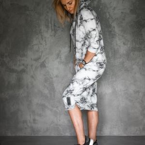 šaty s kapucí, bavlna |