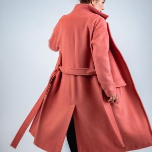 podšitý kabát z počesané vlny |
