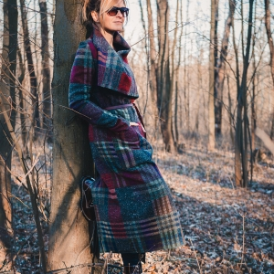 dlouhý vlněný kabát |