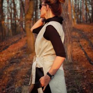 vesta, vlna a kapsy z imitace kůže |